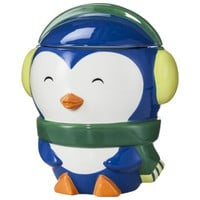 Penguin Ceramic Cookie Jar