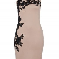 Beige Floral Side Dress | Dresses | Desire