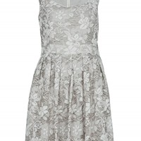 Grey Floral Lace Dress | Dresses | Desire