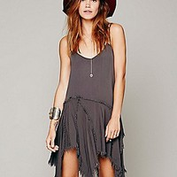 Free People Womens Tattered Up Shred Slip -