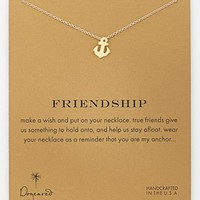 Dogeared 'Reminder - Friendship' Boxed Anchor Pendant Necklace | Nordstrom