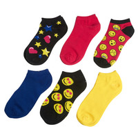 Smiley Socks 6 Pack | Wet Seal
