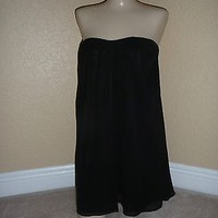 Black Mini by ELIZABETH AND JAMES Chiff Dress by INTERMIX Small Med Lrg Ret $385