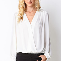 Old School Glam Surplice Top
