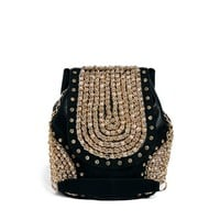 River Island Black Wow Embellished Backpack