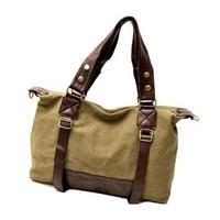 Leisure Chic Cool Mixing Color Canvas Shoulder Bag Handbag