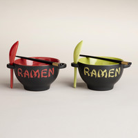 Red Ramen Bowl and Green Ramen Bowl