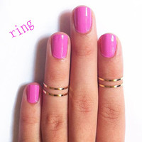 5PCS/Set Urban Gold Stack Plain Simple Cute Above Knuckle Ring Band Midi Rings