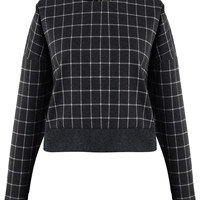 Grey Tartan Sweat Top