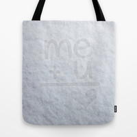 Me and You Tote Bag by Alice Gosling