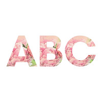 Lisa Argyropoulos Pink Peonies Decorative Letters