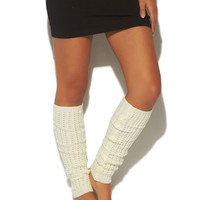 Cable Knit Leg Warmer | Wet Seal