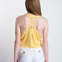 Yellow Ladder Back Cutout Tank