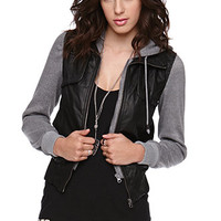LA Hearts Fleece Sleeve Bomber Jacket at PacSun.com