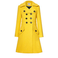 Orla Kiely - Heavy Wool Trench Coat