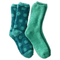 Xhilaration® Juniors 2-Pack Crew Cozy Socks - Assorted Colors/Patterns
