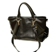 Gorgeous Elegant Pure Color Vertical Zip Shoulder Bag Handbag