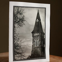 Card - Greeting - Photography Blank 5 x 7 Church Steeple