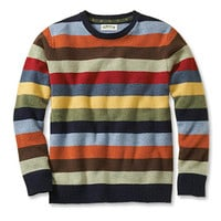 Stripe Crewneck Lambswool Sweater / Lambswool Multicolor Crewneck Sweater -- Orvis