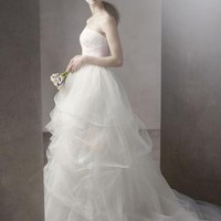 Ball Gown with Corded Lace Bodice and Tulle Skirt - David's Bridal - mobile