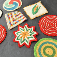 Vintage Crochet Pot Holder Collection