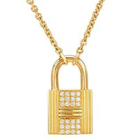 TIFFANY & CO. 18K Y/G Necklace with 0.15 CTW Diamonds - Luxe Jewelry ft. Bvlgari, Carrera y Carrera, Gucci, Louis Vuitton And More - Modnique.com