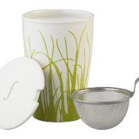Grass Mug with Tea Infuser | Crate&Barrel