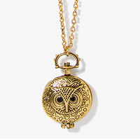 Owl Locket Necklace