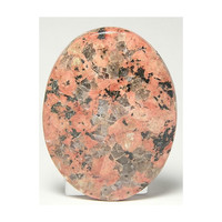 Texas Granite Llanite Llanoite calibrated Cabochon 53 carats Rose Orange