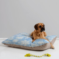Lisa Argyropoulos Snow Flurries in Blue Pet Bed