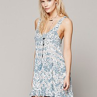 Intimately Womens Printed Voile and Lace Slip -