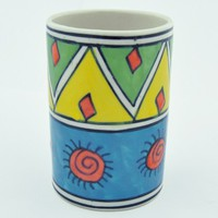 Handpainted Ceramic Tumbler