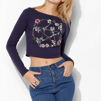 Truly Madly Deeply Floral Pentagram Fitted Tee - Urban Outfitters