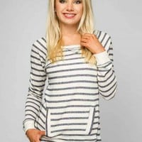 Striped Terry Fleece