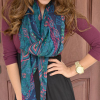 Dazed And Crazed Scarf: Multi