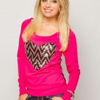 Chevron Sequin Fleece
