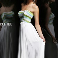 Strapless Open Back Gown by Sherri Hill