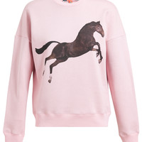 MSGM | Unisex Jumping Horse Printed Cotton Sweatshirt | Browns fashion & designer clothes & clothing