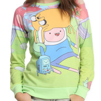 Adventure Time Finn Jake BMO Girls Pullover