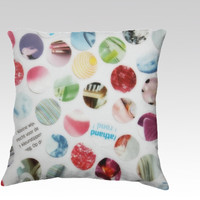 Collage Dots Velveteen Pillow Cover by JUSTART (18x18 pillow)