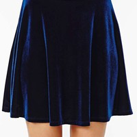 Nasty Gal Oracle Velvet Skirt