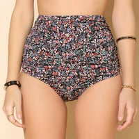 Out From Under Mix + Match Ruched High-Waist Bikini Bottom  - Urban Outfitters