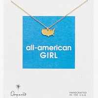 Dogeared 'Reminder - All-American Girl' Boxed Pendant Necklace | Nordstrom