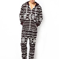 New Look Geo-Tribal Print Onesuit