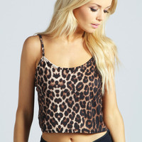 Lucie Leopard Swing Top