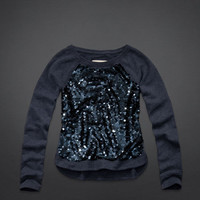 Dana Strands Sequin Front Sweatshirt