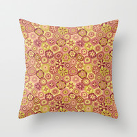 Millefiori-Canyon Colors Throw Pillow by Groovity