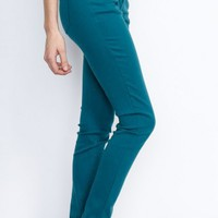 Hunter Green Comfy Stretchy Skinny Jeans