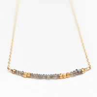"Art of Manliness Women's Holiday Shop 2013 | Morse Code ""LOVE"" Necklace (Grey)"