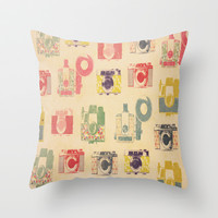 Camera Action Throw Pillow by liberthine01